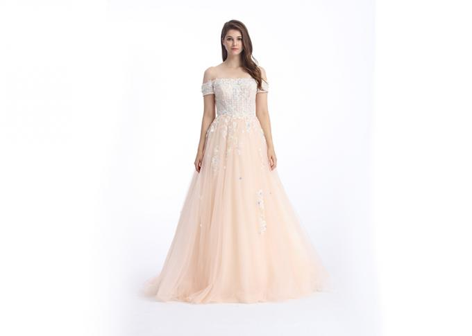 Fishtail Long Party Prom Vintage Lace Dress Shining Beaded Sexy V - Neck See Through Style