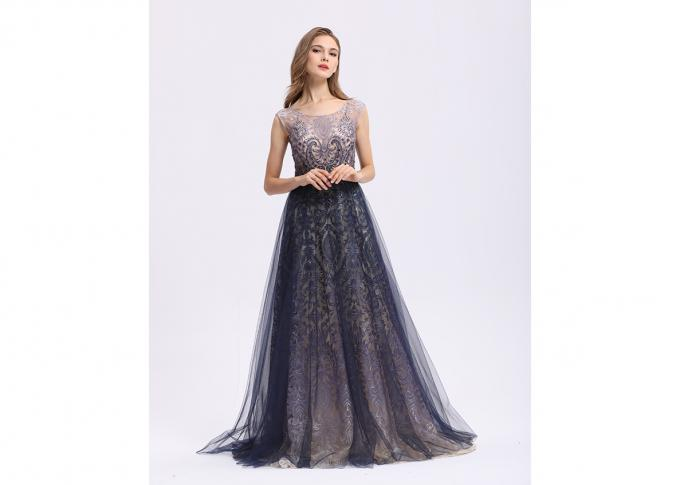 Sequin Elegant Party Dresses For Women , A - Line Sleeveless Long Sleeve Evening Dresses