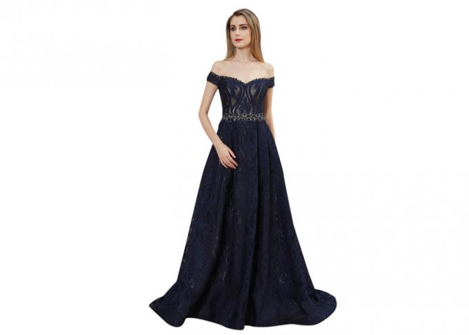 Customize Fluffy Embroidery Arabic Evening Dresses Lady Formal Dress