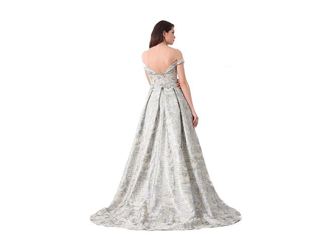 Sweetheart Unique Off Shoulder Long Womens Evening Gowns Embroidery Decor