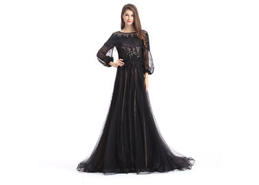 China Evening Cocktail Evening Dresses , Womens Black Evening Dresses With Built - In Bra supplier