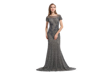 China Women ' S Mermaid Elegant Long Sleeve Evening Dresses Lace V - Neck Dress For Party Gowns supplier