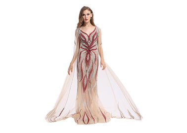 China Fashion Ladies Long Wedding Dresses Gown 62 Inch For Formal Evening Party supplier