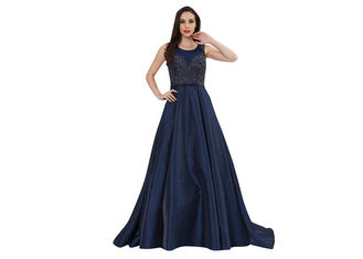 China Customize Fluffy Embroidery Arabic Evening Dresses Lady Formal Dress supplier