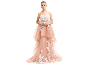 China Upscale Sweetheart Middle Eastern Evening Dresses / Tulle Long Evening Gowns supplier