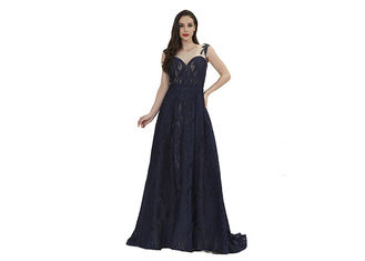 China Back Bottom Sexy Vintage  Banquet Dresses / Simple Formal Evening Gowns supplier