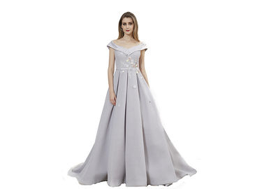 China Big Net Elegant Women Party Wear Ball Gowns / Evening Dresses For Muslim Ladies supplier