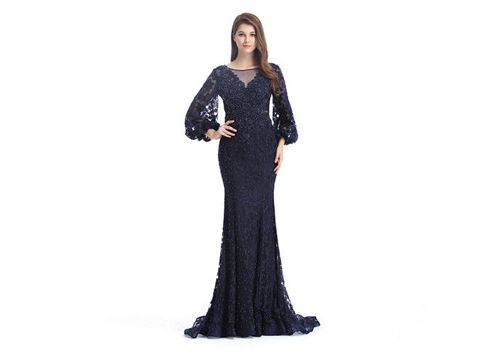 e4dc917e9740 Saudi Arabic Mermaid Long Sleeve Evening Gowns Off - Shoulder Muslim Sexy  Style