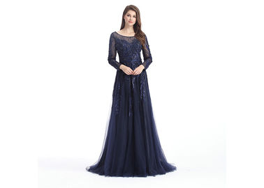 Good Quality Ladies Evening Dresses & Women Sexy Wrap Plunging Sparkle Prom Dresses With Sleeves A - Line Style on sale