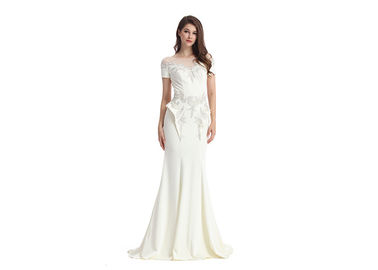 China Elegant White Lace Mermaid Middle Eastern Evening Dresses For Wedding factory