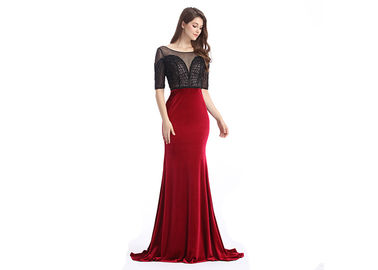 Good Quality Ladies Evening Dresses & Customized Velvet Fabric European Style Evening Dresses for Women Party on sale