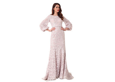 China Three Quarter Sleeve Sweep Train Muslim Evening Dress Mermaid Style distributor