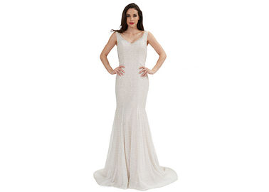 China Fashionable European Style Evening Dresses , Sleeveless Prom Dress distributor