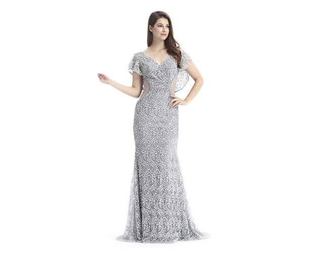 Normal V Neck Middle Eastern Style Dresses / Long Prom Party Dresses